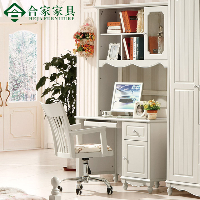 furniture rustic right angle bookcase solid wood computer desk child