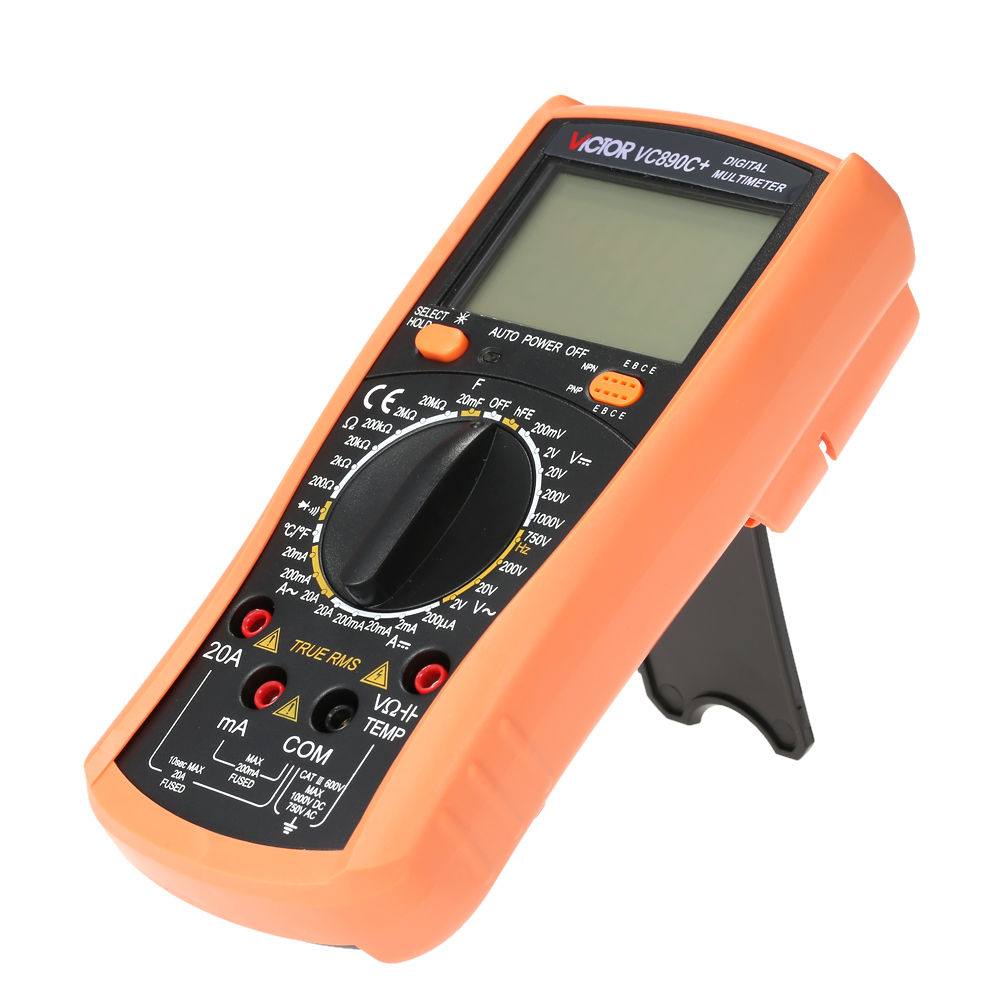 VC890C+ True RMS Digital Multimeter Multi-Purpose for AC/DC Voltage Current Resistance Capacitance Temperature hFE Tester  usb interface multimeter tester test true rms ac dc current voltage resistance capacitance diode temperature duty cycle meter