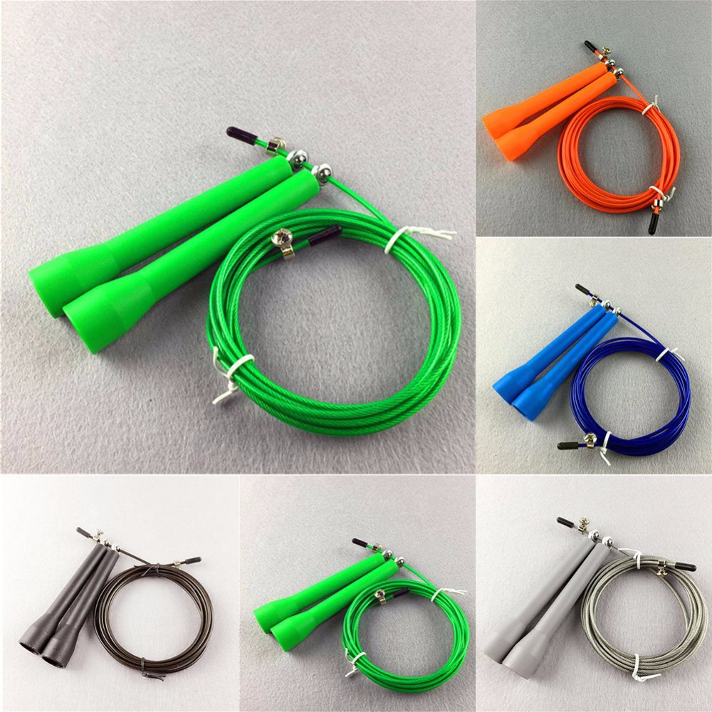 Body Movement Box Gym Speed Cable Wire Speed Skipping Skip Adjustable Jumping Rope Crossfit