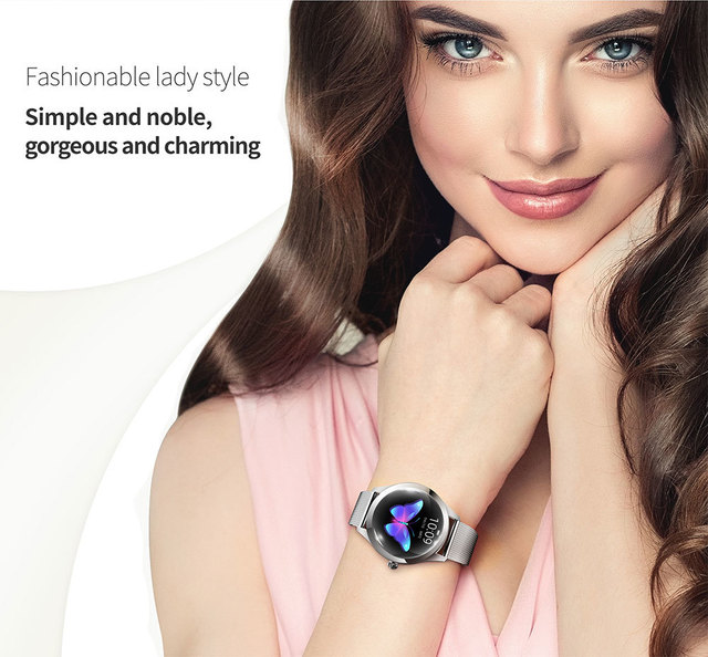 NIYOQUE Smart Watch Women KW10 Heart Rate Monitoring IP68 Waterproof Multi-sports Modes Fitness Bracelet Smartwatch for Lady