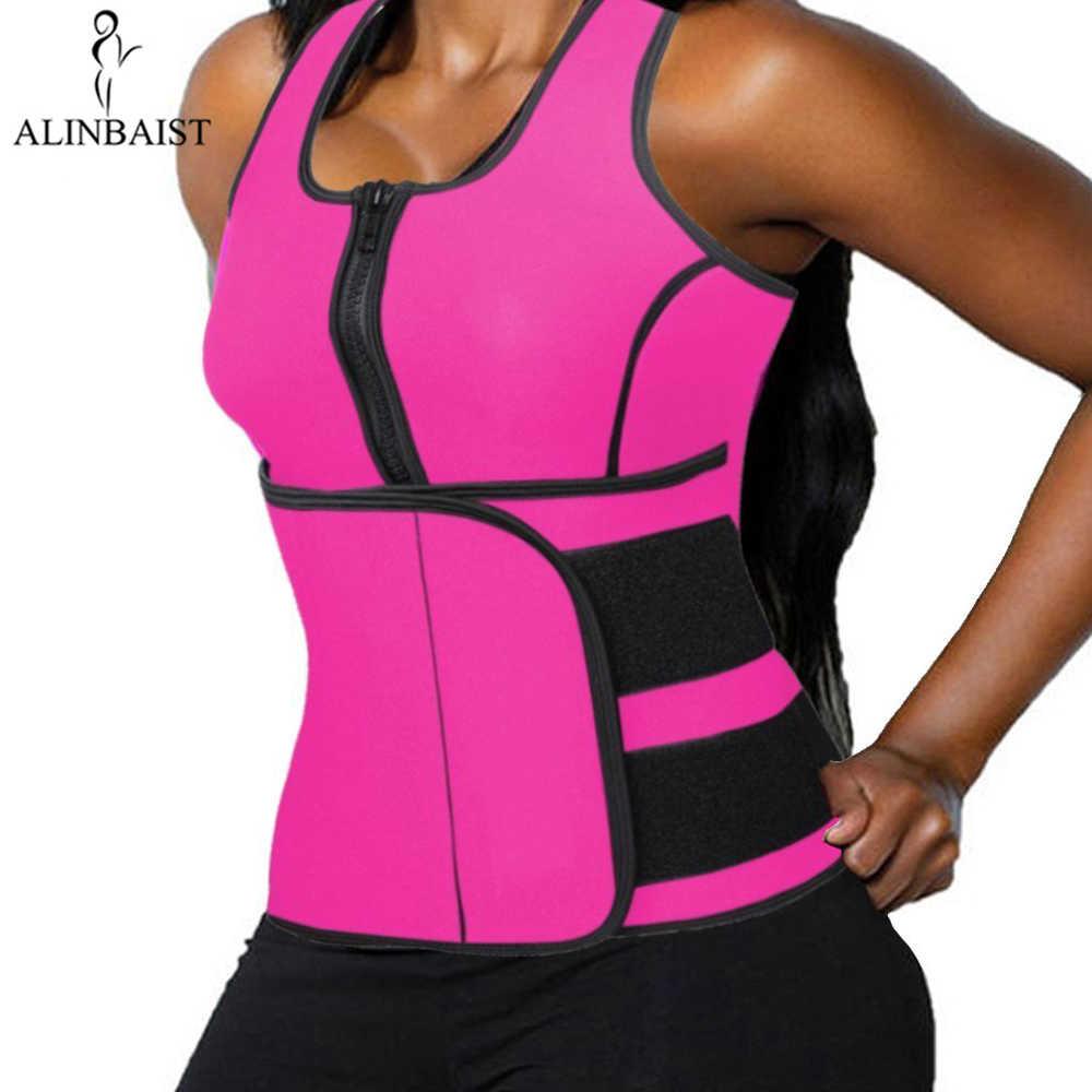 575fd5d7718 Neoprene Sauna Vest Body Shaper Slimming Waist Trainer Hot Shaper Workout  Shapewear Adjustable Sweat Belt Compression