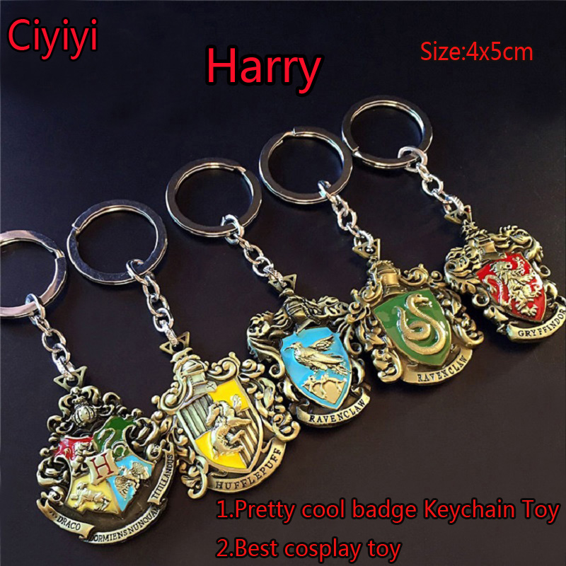 Harri Potter Cosplay Hogwarts School Badge Toys Children Halloween Party Show Harri Potter Magic Toy Birthday Gift For Kids