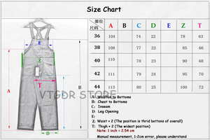 Image 5 - בוב דונג 40s שלוש in one Wabash פסים סרבל בציר גבוהה חזור ינס מכנסיים 40s רטרו מכנסיים