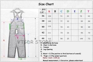 Image 5 - Bob Dong 40s trzy w jednym pasiaste kombinezony w stylu Vintage z wysokim oparciem spodnie dżinsowe 40s spodnie Retro