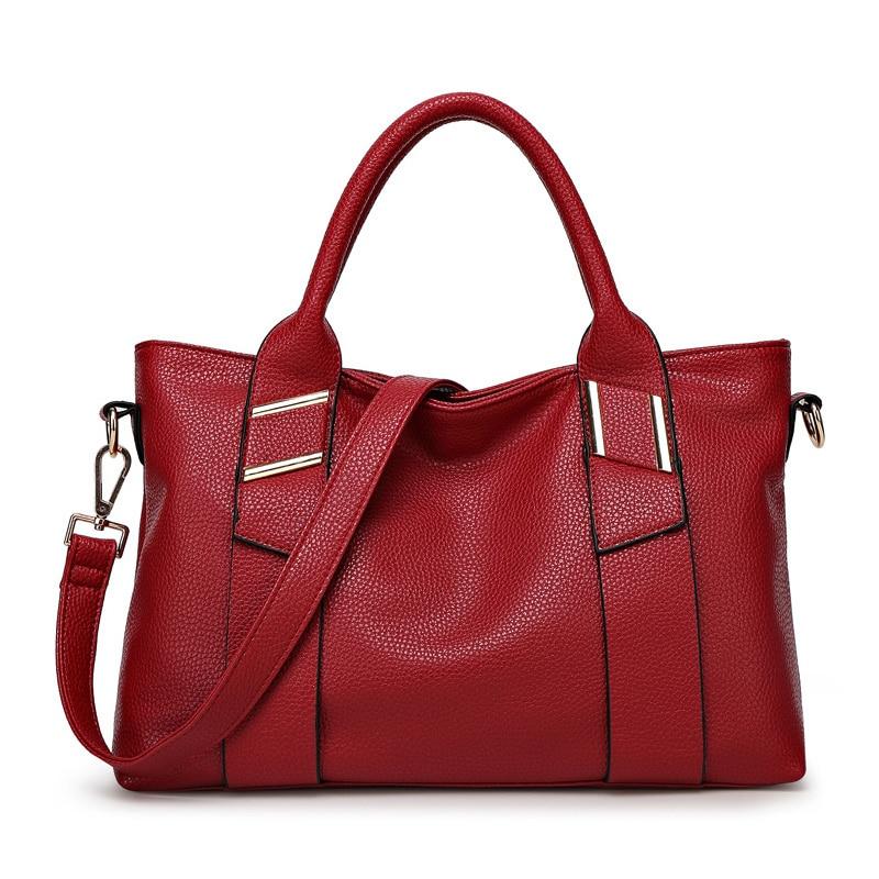 Fashion PU Leather Women Handbag Bag Women Top-handle Bag Ladies Big Crossbody Shoulder Messenger Bags Large Women Hand Bag