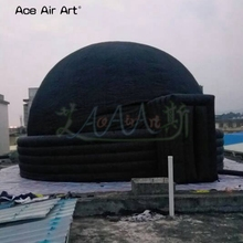 6 м диаметр черный Высокое качество надувная палатка, проекционный экран шатер купол палатка с дверями со скидкой