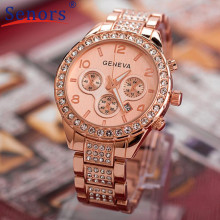 HF2016 Brand Bling Watch Women font b Luxury b font Austrian Crystals Watch Shinning Diomand Rhinestone
