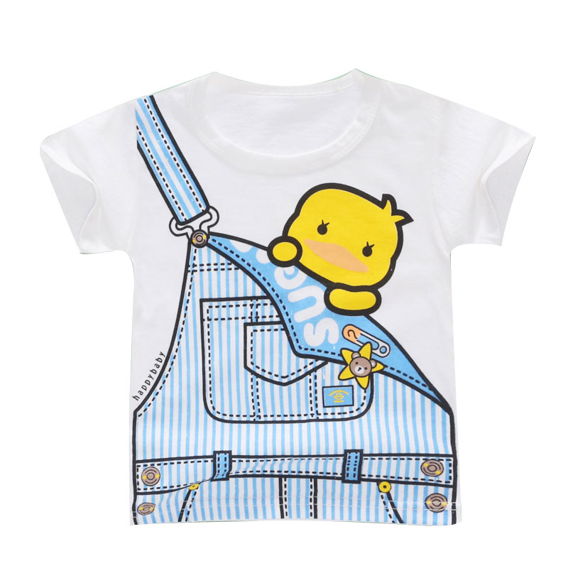 Girls T shirt Print Cartoon Kids Clothing New 2019 Summer Fashion Children Girl Short Sleeve Cotton T shirts For Boys(China)
