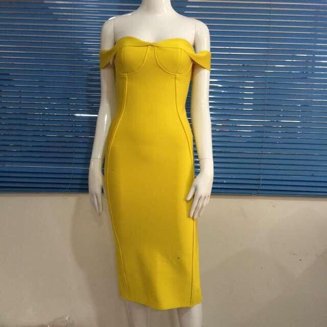 Желтое платье летнее без лямок