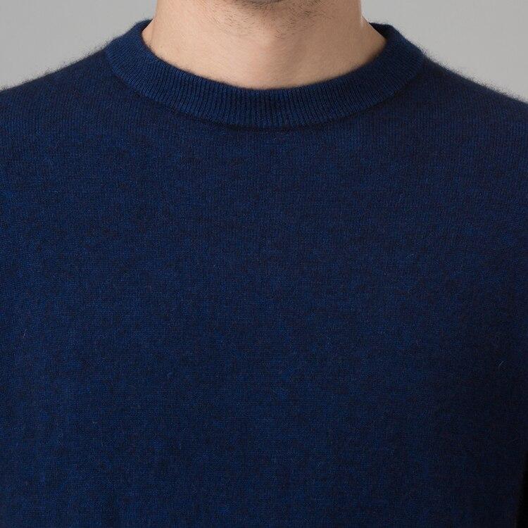 Image 3 - Зимний мужской свитер, 100% кашемировый и шерстяной вязаный  свитер с круглым вырезом и длинными рукавами, 2016 новые мужские  свитера, Одежда большого размераmens jumperswinter mens jumperswarm  pullover