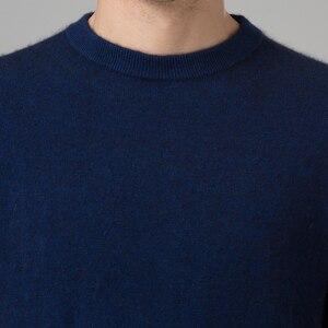 Image 3 - ผู้ชายฤดูหนาวจัมเปอร์ 100% แคชเมียร์และผ้าขนสัตว์ถักเสื้อกันหนาวคอยาวแขนยาว Pullovers ชาย 2016 เสื้อใหม่ขนาดใหญ่เสื้อผ้า