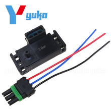 Promoción-NUEVO GM De ESTILO 3BAR 3 BAR MAPA Sensor Para Electromotriz Motec Megasquirt Con Enchufe 12223861 16040749