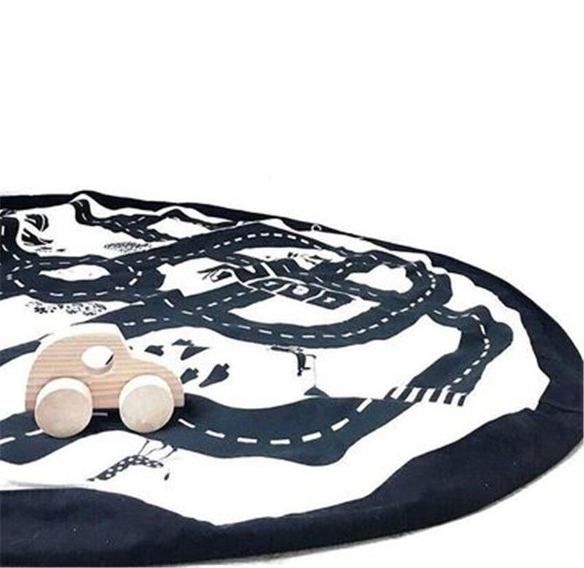 140 CM bébé tapis de sol de couchage enfants tapis de jeu tapis de jeu Tapete Infantil Para Brincar sac de rangement Speelkleed Gym Alfombra tapis - 3