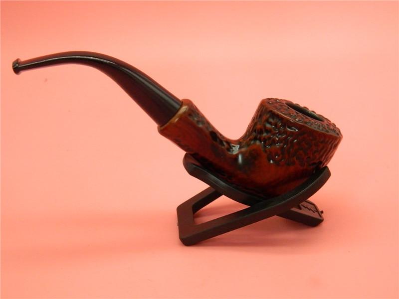 1 шт. высокого качества Прочный ручной резьбой имитация деревянный трубы смолы курили табак кальяны с стентов Подарки Box