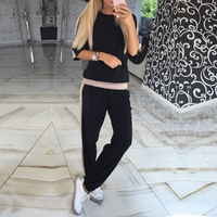 ZOGAA Women 2 Pieces Set Casual Tracksuit Newest Autumn O Neck Sporting Suit Two Pieces Sets Women Sportswear Sweat Set Outfits