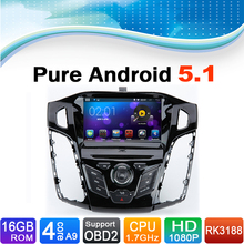 Pure Android 5.1 Auto Radio Car DVD Player For Ford C Max 2011, for Ford Focus 2012, Support 3G, WiFi