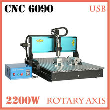 JFT CNC 6090 Router Machine 2200W 4 Axis with USB 2 0 Port Engraving Machines Wood