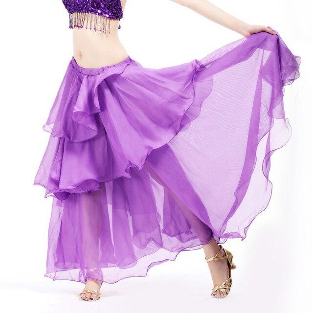 6f54f74e680 2018 популярные дешевые танец живота красивая юбка шифон для женщин Танец  живота Костюм 11 цветов