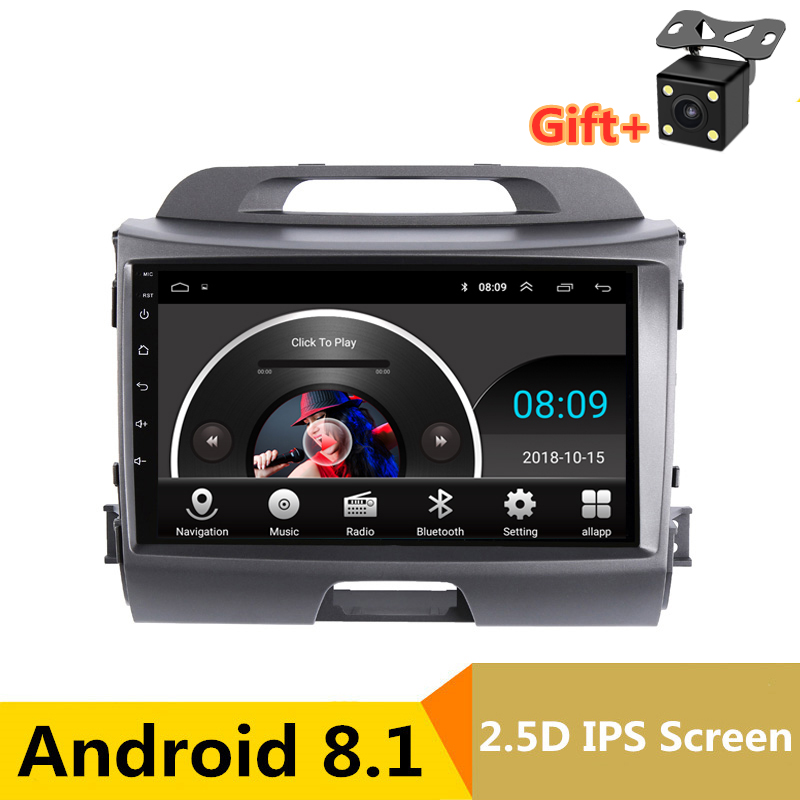 9 Android Car DVD Multimedia Player GPS For KIA Sportage R 2011 2012 2013 2015 audio car radio stereo navigator bluetooth wifi