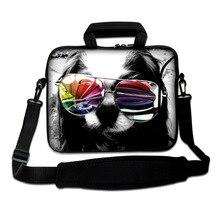 """Bilgisayar çantası 15.6 """"15"""" 17 """"neopren laptop kol çantası 13"""" tablet kılıfı Kolu ve Omuz Askısı Ile için xiaomi mi dizüstü hava/asus"""