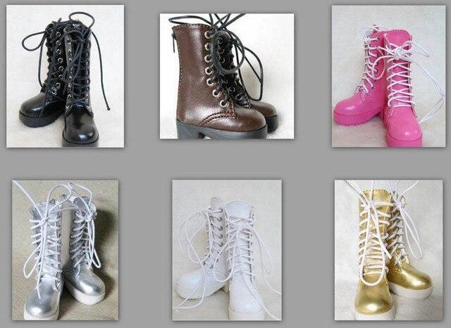 1/3 1/4 kadın erkek erkek kız SD AOD KÖPEK BJD MSD Dollfie Sentetik Deri PU çizmeler Ayakkabı siyah beyaz kahverengi ayakkabı YG008