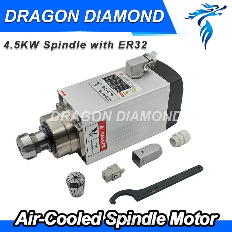 Factory Heavy duty cnc spindle er 32 4.5kw Air Cooled Spindle motor ER 32 for cnc router cnc spare parts current transformer cnc control spare parts fanuc sensor a44l 0001 0165 300a