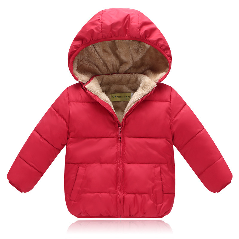 2018 Boys Winter Jacket Cotton Padded Clothes Thicker Casual Unisex Solid color Zipper Detachable Cap Coat Children warm dress pinli product made of cultivate morality even cap long cotton padded jacket zipper qiu dong outfit b173605400 male coat