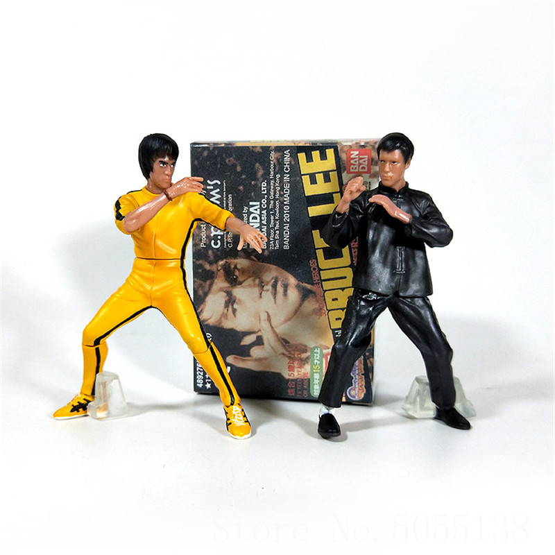 4pcs Bruce Lee model toy doll Chinese martial arts classic action Figure cake scene car ornaments F273 image