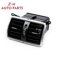 OEM Chrome Rear Air Vent Outlet Assembly 3AD819203E 3C0 819 203 B Fit VW Passat B6 3C2 3C5 R36 B7 NEW 1 set oem center console air condition vents for vw passat b6 b7 cc r36 3ad 819 701 a 3ad 819 702 a