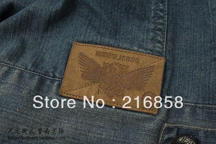 Brand New 2013 Male's Clothing Fashion Denim Jacket Blue Jean Vest For Men ## Good Quality ### Specail  Offer