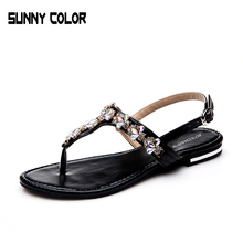 Woman 2017 New Summer Flat Sandals Ladies Summer Bohemia Beach Flip Flops Shoes Women Shoes Sandles Zapatos Mujer Sandalias