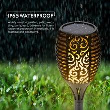 Solar Flame Flickering Garden LED light 2pcs set IP65 outdoor solar tiki torch Spotlights Landscape Decoration led Lamp