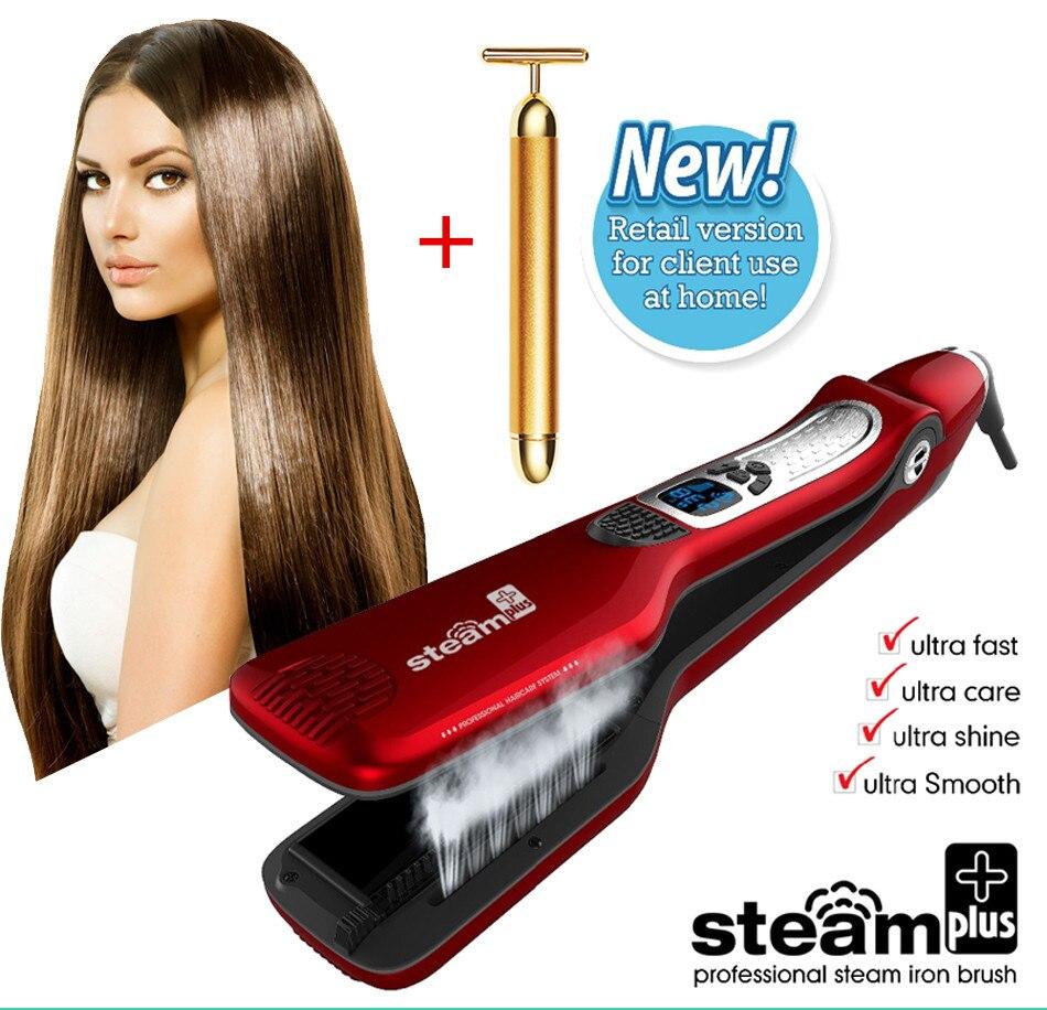 2018 Hotest Professional Fast Heating Ceramic Steam Hair Straightener