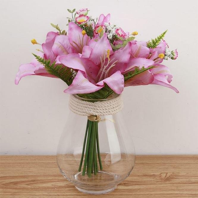 K15146 Al Por Mayor Simulación Peony Arreglos Florales Boda