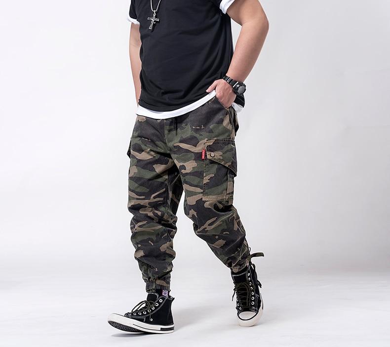 Plus Size 7xl 6xl  Mens Joggers Pants Men Camouflage Cargo Pants Male Jogger 2019 Spring Camo Pants Men's Trousers With Pockets