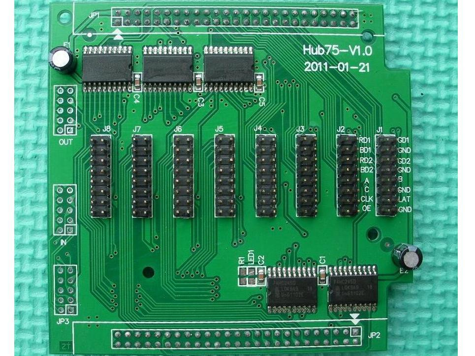Linsn Hub75 Transfer Board;used in the synchronous controller system(work with the RV801 receiving card)