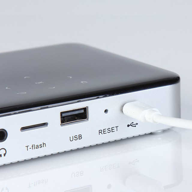 1 unid Lleno Más Nuevo HD Android 1G/8G S5 Portátil Mini Proyector DLP Proyectores de Vídeo Digital Multi Reproductor multimedia Wifi batería de Li-ion