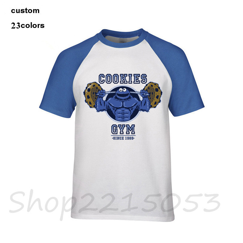 cba150915fc Detail Feedback Questions about Funny Me just here for cookies T ShirtS  Men s Novelty Sesame Street Cookie Monster GYMS T shirt Male Brand Clothing  fitness ...