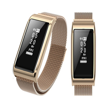 Купить с кэшбэком B29 2018 Fashion Smart Watch Metal Elegant Ladies Wristband Waterproof Bluetooth Sport Bracelet Blood Pressure Fitness Tracker
