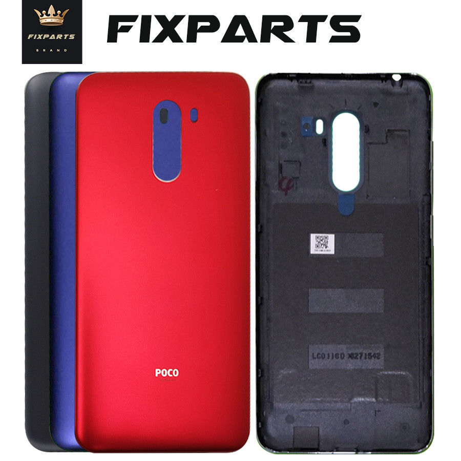 For Xiaomi PocoPhone F1 Battery Cover Rear Door Housing Case Panel Side Button Power Volume Key For Xiaomi Poco F1 Battery Cover