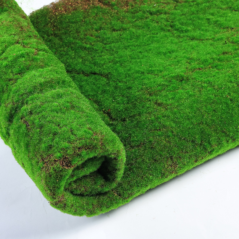 CHENCHENG 1*1 M Artificial Lawn Moss Mat Simulation Plant Background Wall Moss Fake Turf Green Indoor Window Decoration