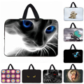 "Blue Eyes Cat Notebook Laptop Neoprene Cases Handle Protective Bags Cover For 10 12 13.3 14 15 16 17 Inch 10.1"" Mini PC Tablets"