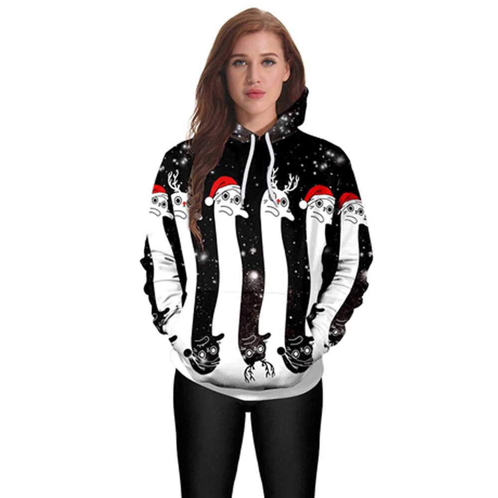 2017 New 3D Print Christmas Halloween Skull Theme Pullover Harajuku Hoodie for Women/men Causal Loose Plus Size Sweatshirt Femme