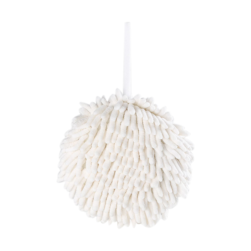 Kitchen Hand Towel Drying Bathroom Quick Dry Hanging Towel Ball Thick Practical Chenille Home Washroom Water Absorption Kitche