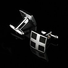 Fashion Cross Design Square Cuff-links, Perfect Shirt Accessory For Wedding Party Luxury Gentlemen Cuff-links