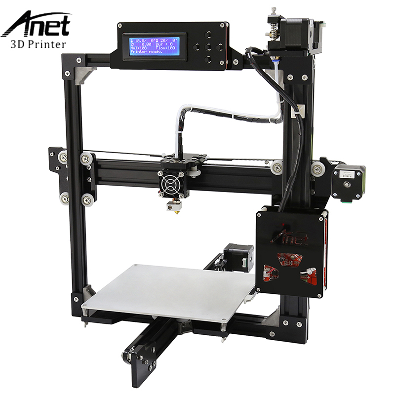 Anet A2 3D Printer 3D Printing DIY Aluminum Metal 3D Three-dimensional 0.4mm Nozzle with SD Card 12864 and 2004 LCD Display anet a2 12864 large aluminium metal 3d printer with lcd display