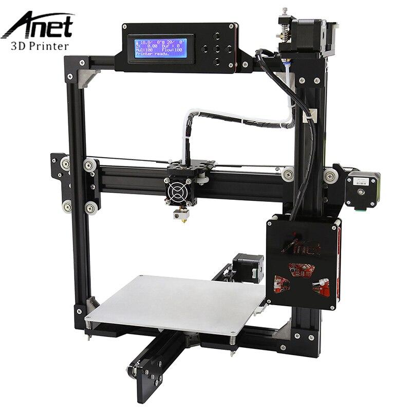 Anet A2 3D imprimante 3D impression bricolage aluminium métal 3D en trois dimensions 0.4mm buse avec carte SD 12864 et 2004 LCD affichage