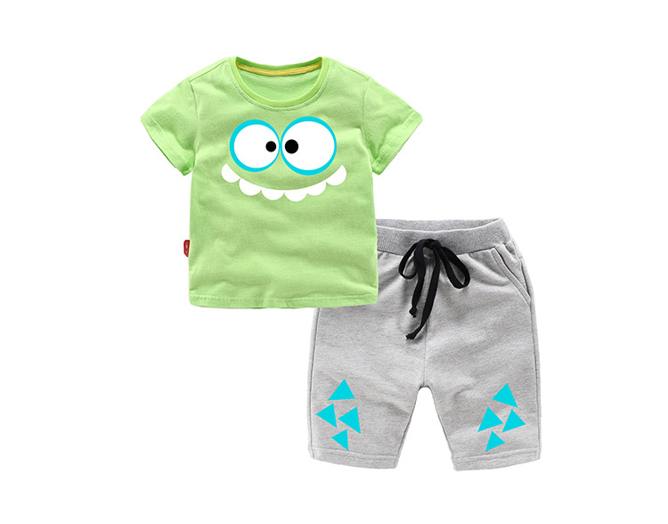Summer Cotton Baby Boys Clothes Sets Children Clothing Sets Kids 2-Piece Sets Shorts+T-Shirts For 1-8 Years Old 2018 new big girls clothing sets summer t shirts tops shorts suits 2 pieces kids clothes baby clothing sets 6 8 10 12 14 year