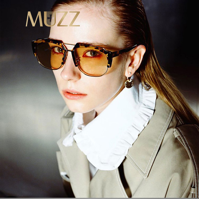 MUZZ Fashion Brand Designer Sunglasses Women Ladies Men Modern Sun Glasses  Retro Style Big Frame Female Accessorie Oculos De Sol e68a406b06