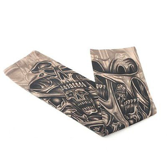 Huation New Fashion Tattoo Sleeves Arm Warmer Unisex UV Protection Outdoor Temporary Fake Tattoo Arm Sleeve Warmer Sleeve Mangas 4